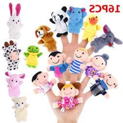10/16 Cartoon Finger Puppets Cloth Plush Doll Baby Education