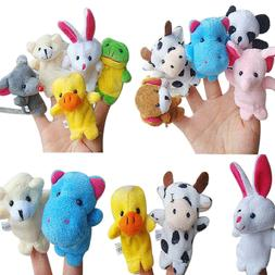 10Pcs Finger Puppets Plush Cloth Doll Baby Educational Hand