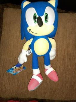 "11""-12"" Sonic the Hedgehog Plush Stuffed Animal, Toy Factory"
