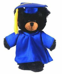 """12"""" Black Bear in PERSONALIZED Graduation Outfit Plush Toys"""