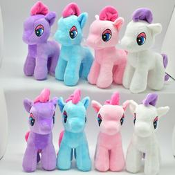 12 Little Pony Plush Toys With Suction Cups Stuffed Soft Ani