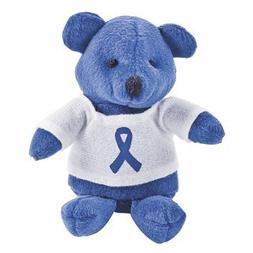 12 Plush Blue Awareness Ribbon Bears
