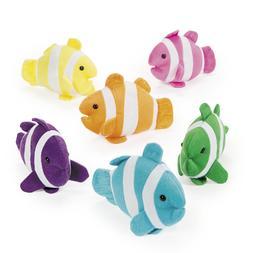 12 Plush Clown Fish Stuffed Animal Party Favors Decorations