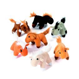 12 Plush Horses Decoration Toys Favors Prizes Western Farm R