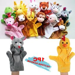 12 Styles Hand Finger Puppets Cartoon Plush Animal Education
