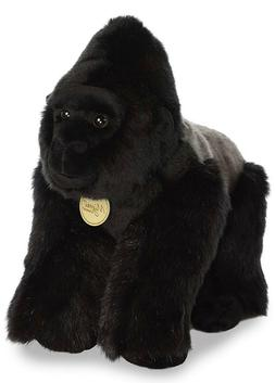 13 Inch Miyoni Silverback Gorilla Plush Stuffed Animal by Au