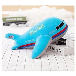 "Dongcrystal 15.7"" Blue Airplane Model Plush Toy - Stuffed Pi"