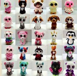 15CM TY Beanie Boos Plush Toy Soft Kinds Big Eyes Baby Stuff