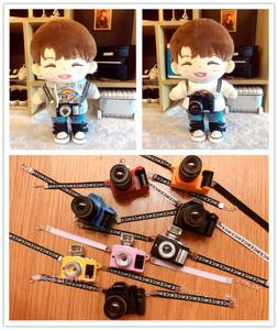 15cm 20cm Kpop EXO Plush Doll Accessories SLR Camera Toy For