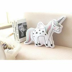 "16"" Unicorn GrownUp Toys Emoji Throw Pillow Stuffed Animals"