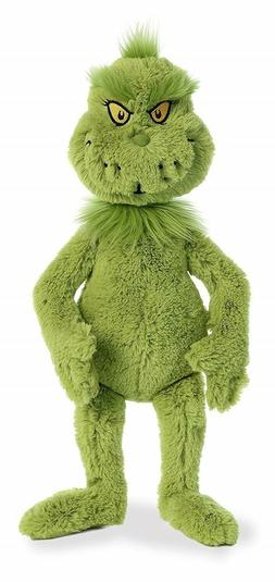 "18"" Dr. Seuss Mr. Grinch Aurora Licensed Stuffed Animal Plus"