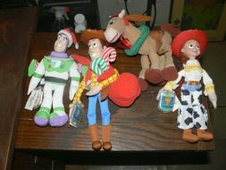 1999 Mattel Toy Story 2 Star Bean Lot - Buzz Woody Jessie Bu