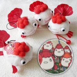 1pc anime plush charm Hoozuki no Reitetsu goldfish plant toy