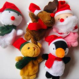 1Pc/Lot Christmas Animal Plush Hand Puppets Finger Soft Toy