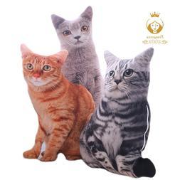 1PCS 50CM 3D Simulation <font><b>Cats</b></font> Pillow, Cut