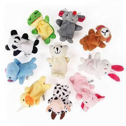2/10Pcs Finger Puppets Cloth Plush Doll Baby Educational Han