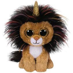 "2018 Ty Beanie Boos 6"" RAMSEY Lion w/ Horn Stuffed Animal Pl"