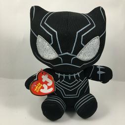 "TY Beanie Baby 6"" Black Panther Marvel Plush Stuffed Animal"