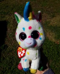 "2018 Ty Beanie Boos HARMONIE  Unicorn 6"" plush toy"