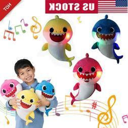 2019 Baby Shark Plush LED Singing Plush Toys Music Doll Engl