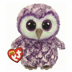"2019 Ty Beanie Boos 6"" MOONLIGHT Purple Owl Plush Animal Toy"