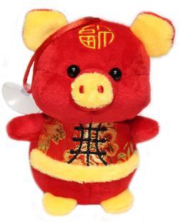 2019 Chinese New Year Pig Plush Stuffed Animal Toy Decoratio