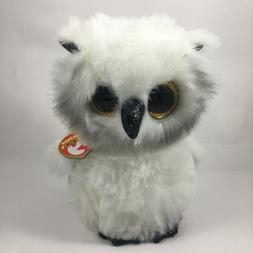 2020 TY Beanie Boos AUSTIN the White Owl Stuffed Animal Toy