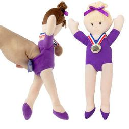 2pc Doll Gymnastics Finger Puppets for Kids Adults Plush Toy