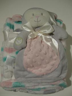 Baby Gear 2PC GIFT Set Plush Cloud Blanket w/ Security Squea