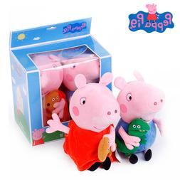 2Pcs/set Peppa <font><b>Pig</b></font> 19cm Cartoon Stuffed
