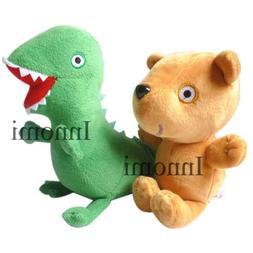 2Pcs Peppa Pig Teddy Bear George Dinosaur Plush Doll Stuffed