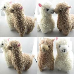 2x Cute Alpaca Plush Toy 23CM Height Camel Cream Llama Stuff