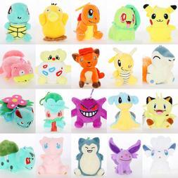 3''Pokemon Plush Toy Doll Eevee Leafeon Umbreon Jolteon Sylv