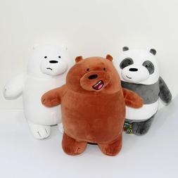 3pcs/set Cute Anime We Bare Bears Plush Toy Doll Birthday Xm