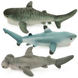 "3pk Wild Republic Kids Stuffed Animal Sharks 15"" Plush Tig"
