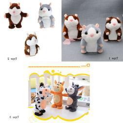 3x Stuffed Plush Doll Talking Hamster Toys Sound Recorder No