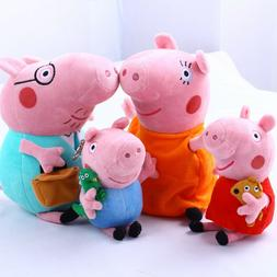 4 pcs peppa pig family doll stuffed