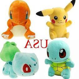 4 Pcs Set Pokemon Pikachu Bulbasaur Squirtle Charmander Plus