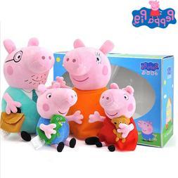 4Pcs/set Peppa <font><b>Pig</b></font> 30cm/19cm Stuffed <fo