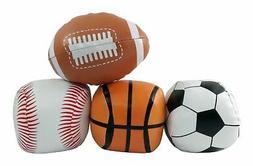 """5"""" Mini Soft Plush Sports Balls Set for Kids - Set of 4"""