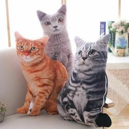 50cm Simulation Plush Cat Toys Home Pillow Stuffed Animals C