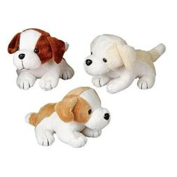 "6"" Assorted Color Adorable Plush Puppy Dogs"