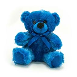 "6"" Royal Blue Plush Teddy Bear Stuffed Animal Toy Gift New"