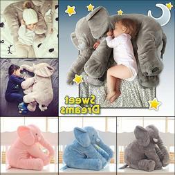 60CM Elephant Plush Pillow Baby Sleeping Back Cushion Kids S