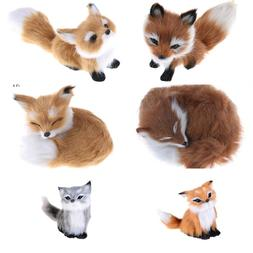 6Styles Cute Simulation Fox <font><b>Toy</b></font> Mini Squ
