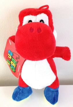"7.5"" Super Mario Brothers Plush Nintendo Red Yoshi Dinosaur"