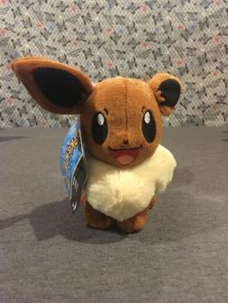 "7"" EEVEE Pokemon Go Plush Toy TOMY Soft Stuffed Animal Doll"