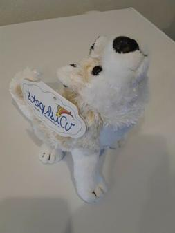 "Wishpets 7"" Howling Coyote Plush Toy, New with tag."