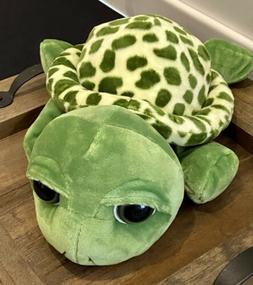 """8"""" Big Eyes Green Turtle Tortoise Animal Stuffed Plush Fun"""
