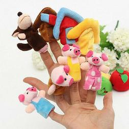 8 Pcs/set Three little Pigs Story Family Finger Puppets Doll